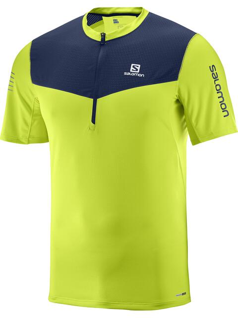 Salomon Fast Wing - T-shirt course à pied Homme - vert/bleu